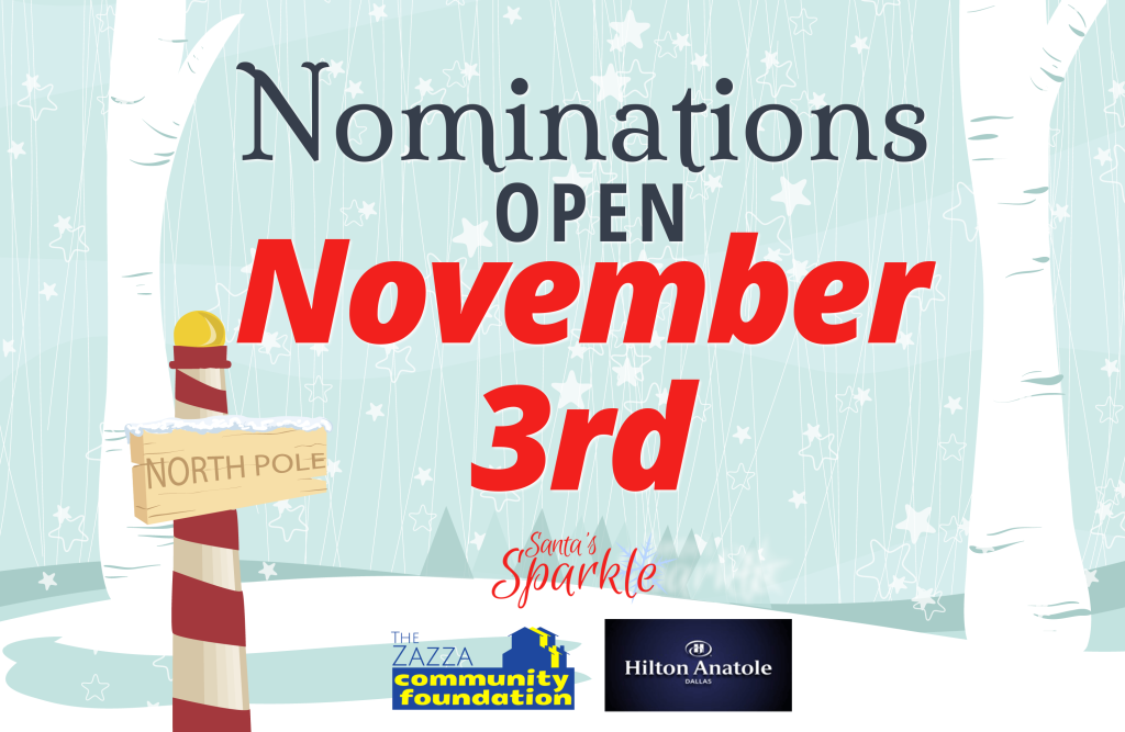 Nominations for Santa's Sparkle 2014 Open on November 3rd